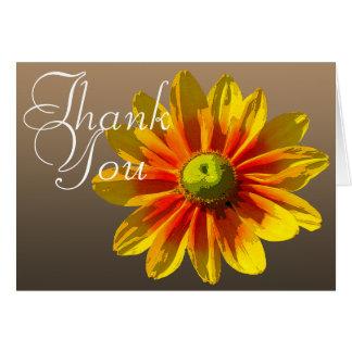 Merci floral chic de photo couleur Noir-Eyed de Cartes De Vœux