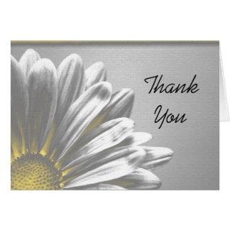 Merci floral jaune de demoiselle d'honneur de poin carte de vœux