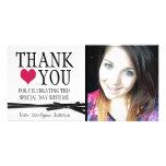 Merci Girly mignon avec la photo Cartes De Vœux Avec Photo