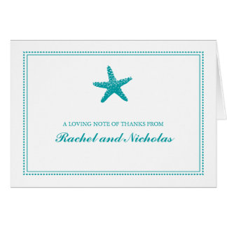 Merci gracieux des étoiles de mer | cartes de vœux