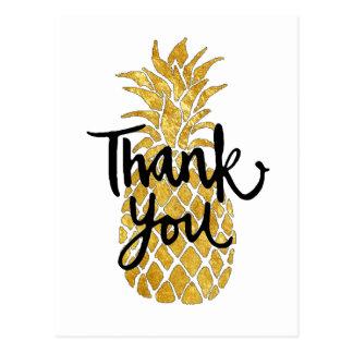 merci graphique d'ananas carte postale