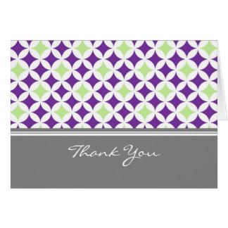 Merci gris d'hôtesse de baby shower de chaux de carte de vœux