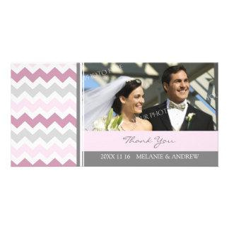 Merci gris rose épousant des cartes photos photocarte personnalisée