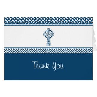 Merci irlandais de la croix | cartes de vœux