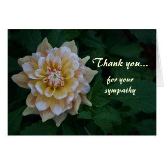 Merci jaune de dahlia pour vos cartes de sympathie