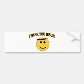 Merci Jésus Autocollant De Voiture