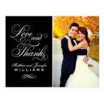 Merci l'épousant de carte postale d'amour et de me
