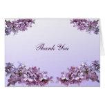 Merci lilas de mariage carte