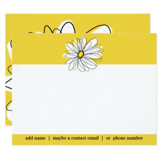 Merci lunatique jaune et blanc de Social de Carton D'invitation 10,79 Cm X 13,97 Cm
