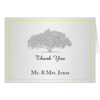 Merci moussu argenté gris jaune de mariage de cartes de vœux