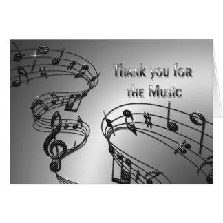 Merci - musique - notes - musical carte de vœux