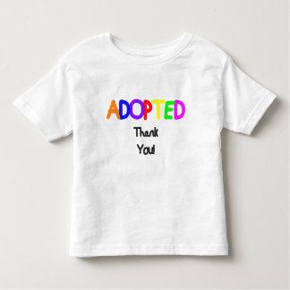 Merci noir adopté t-shirt
