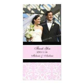 Merci noir rose épousant des cartes photos photocartes