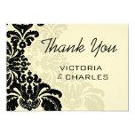 Merci noir royal 5x7 de mariage damassé carton d'invitation  12,7 cm x 17,78 cm