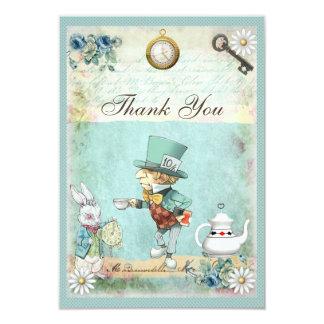 Merci nuptiale de douche du pays des merveilles carton d'invitation 8,89 cm x 12,70 cm