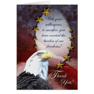 Merci patriotique carte de vœux