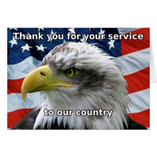 Merci patriotique pour votre carte de service