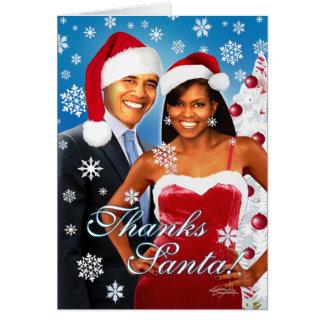 Merci, Père Noël ! Carte de voeux