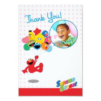 Merci personnalisable de ballons d'Elmo et de Carton D'invitation 8,89 Cm X 12,70 Cm