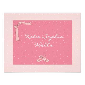 Merci personnalisé par ballerine/carte pour notes carton d'invitation 10,79 cm x 13,97 cm