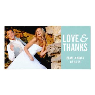 Merci Photocard de mariage de mod Photocarte