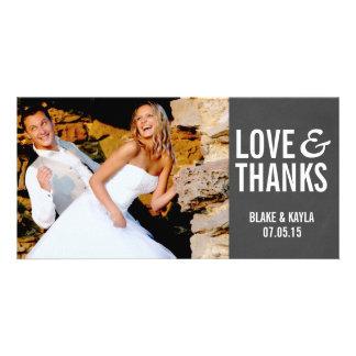 Merci Photocard de mariage de tableau de mod Photocarte Customisée