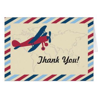 Merci plat vintage de par avion cartes