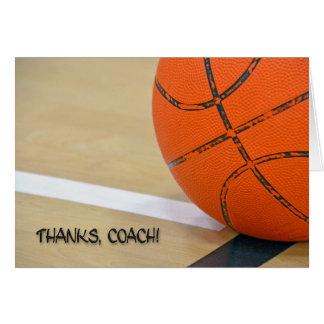 Merci pour entraîneur de football carte de vœux