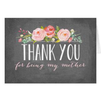 Merci pour être ma mère cartes de vœux