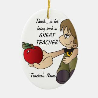 Merci pour être un ornement de professeur - garçon