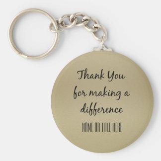Merci pour faire une différence porte-clés
