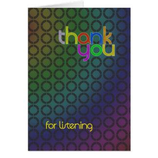 Merci pour la carte de écoute