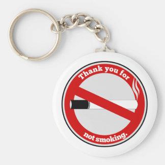 Merci pour le tabagisme porte-clé rond