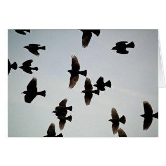Merci pour les ailes carte de vœux