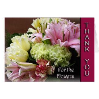 Merci pour les fleurs - fleurissez la carte de