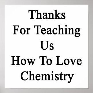 Merci pour nous enseignant comment aimer la chimie poster