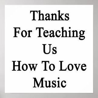 Merci pour nous enseignant comment aimer la poster
