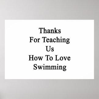 Merci pour nous enseignant comment aimer nager poster