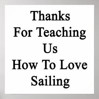 Merci pour nous enseignant comment aimer naviguer poster