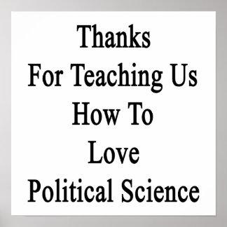Merci pour nous enseignant comment aimer Scien Poster