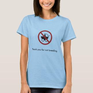 Merci pour pas l'élevage (f) t-shirt
