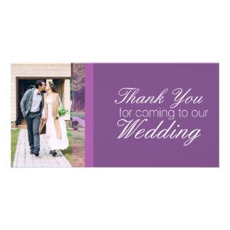 Merci pour venir à notre mariage personnalisé cartes avec photo