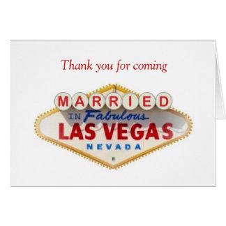 Merci pour venir MARIÉ dans la carte de Las Vegas
