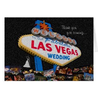 Merci pour venir, notre épouser de Las Vegas Carte De Vœux