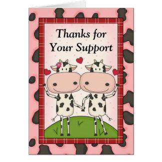 Merci pour votre appui - vaches cartes