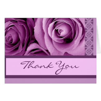 Merci POURPRE LILAS - douche nuptiale Cartes De Vœux