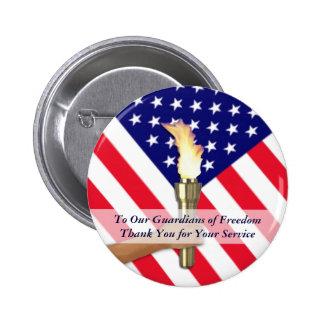 Merci-Rond militaire de vétéran et de service Badge Rond 5 Cm