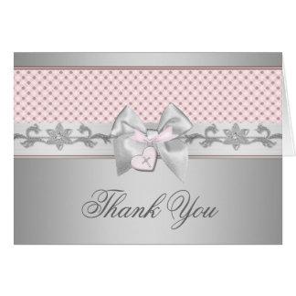 Merci rose de croix d'arc cartes de vœux