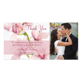 Merci rose Photocard de mariage d'orchidée de Cymb Photocarte Customisée