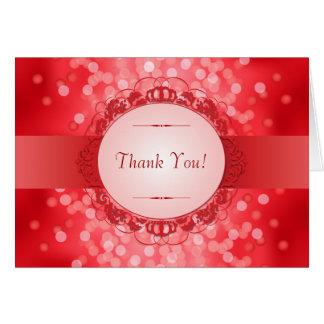 Merci rouge d'anniversaire de rouge quarantième cartes de vœux